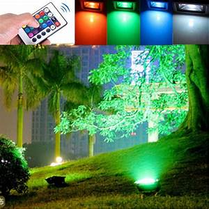 W outdoor garden light waterproof rgb color changing