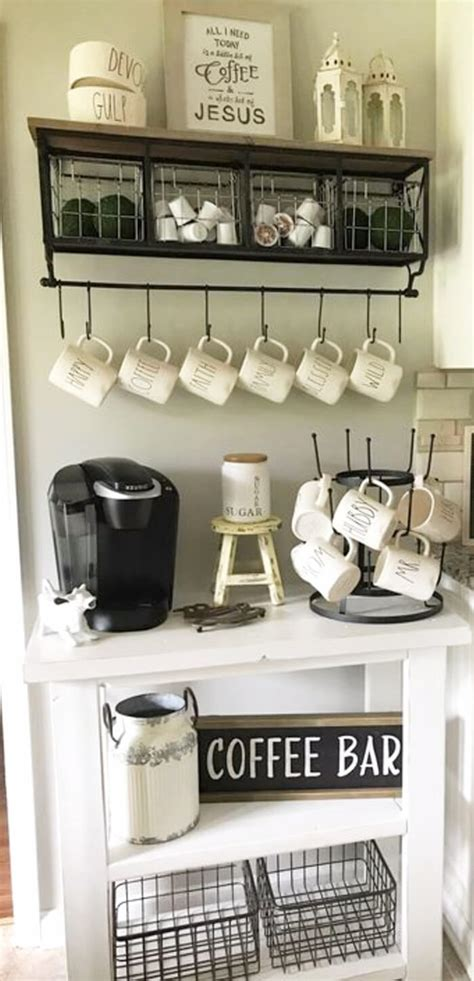 20 coffee station ideas for your home decor these pictures of this page are about:coffee station design ideas. 20 Mind-Blowing DIY Coffee Bar Ideas and Organization Ideas That Will Blow Your Mind - CueThat