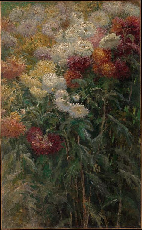 gustave caillebotte chrysanthemums   garden