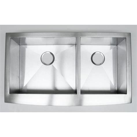 8 inch kitchen sink 36 inch stainless steel curved front farmhouse apron 60 40 7381