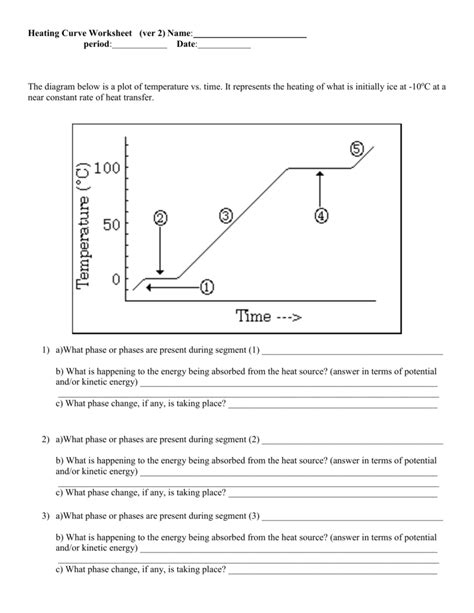 Chemistry Heating Curve Worksheet Answers  Free Printables Worksheet