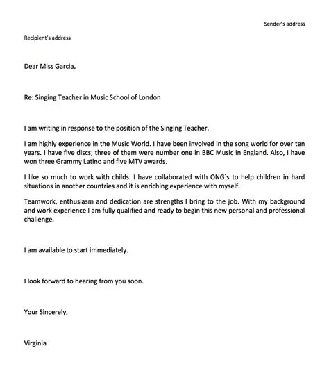 cover letter template  high school students  cover