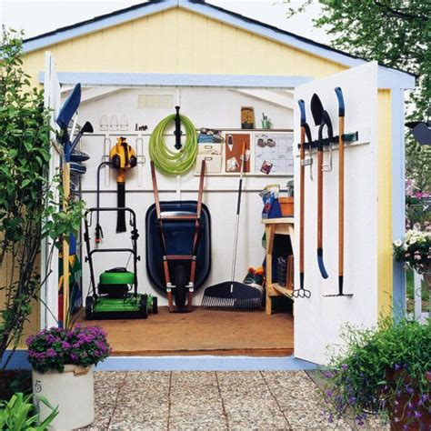 Garden Tool Shed Ideas 33 practical garden shed storage ideas digsdigs