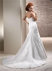 civil simple a line strapless taffeta wedding dress with With simple dress for civil wedding