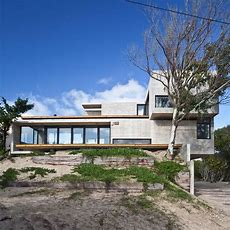 Low Maintenance Concrete Beach House  Modern House Designs