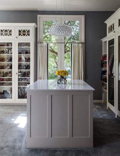 Gray Wardrobe Closet by White And Grey Closet With Island Contemporary Closet