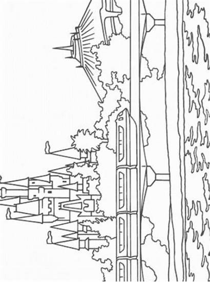 Monorail Disney Kleurplaat Fun Malvorlage Kleurplaten Ausmalbilder