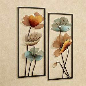 interior breathtaking metal wall art metal wall art With kitchen cabinets lowes with floral metal wall art decor