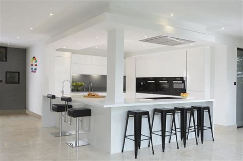modern monochrome kitchen room makers  bespoke
