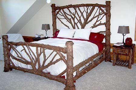 adirondack custom interior twig work  log house