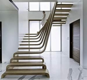 Main Courante Escalier Intérieur : escalier design moderne 79 id es en bois b ton m tal ou ~ Edinachiropracticcenter.com Idées de Décoration