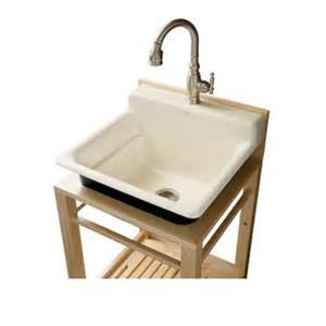 bayview utility sink with two hole faucet drilling in