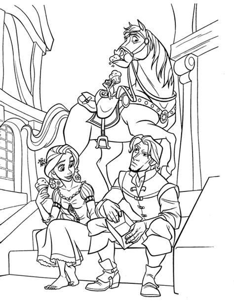 tangled coloring pages coloringpages