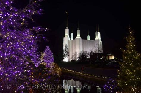 see the festival of lights at washington dc temple tips
