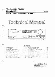 Harman Kardon Avr 11  Serv Man11  Service Manual