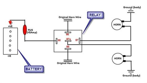 bosch horn relay wiring diagram bosch relay wiring diagram for horn wiring diagram and