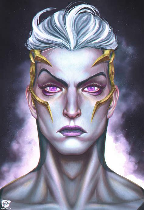 galaxy slayer zed face revealed lol fanart  alejandro