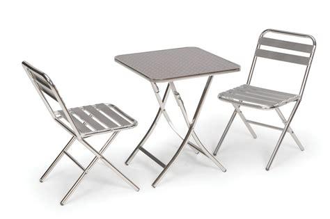 garden table 2 chairs folding bistro aluminium set