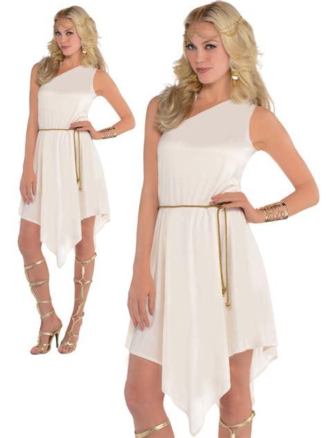 ladies greek roman grecian goddess costume adults toga