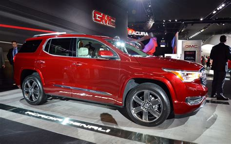 gmc acadia  weight   power  car guide