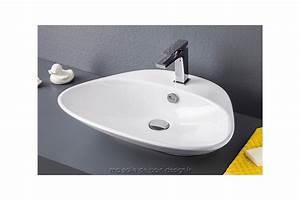 lavabo a poser triangulaire plettro quadro d39artceram en With salle de bain design avec vasque à poser céramique blanche