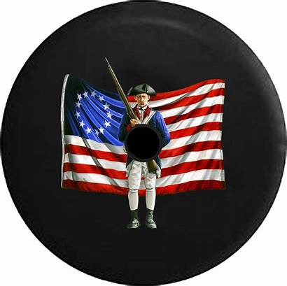Tire Flag Patriot Constitution Jeep American Spare