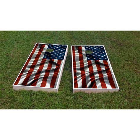Custom Cornhole Boards American Flag Cornhole Game Set