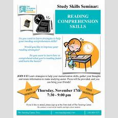 Study Skills Seminar On Reading Comprehension In Troy Mi