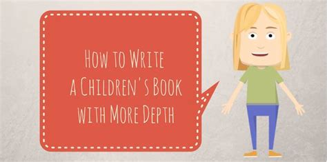 how to write a children s book how to write a children s book with more depth writeforkids writing children s books linkis