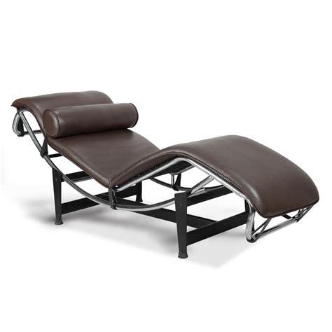 chaise longue cuir chaise longue lc4 le corbusier au cuir brun 668 75