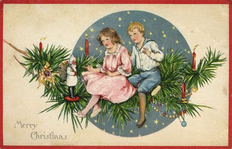 images vintage christmas little birdie blessings free vintage christmas postcards of children