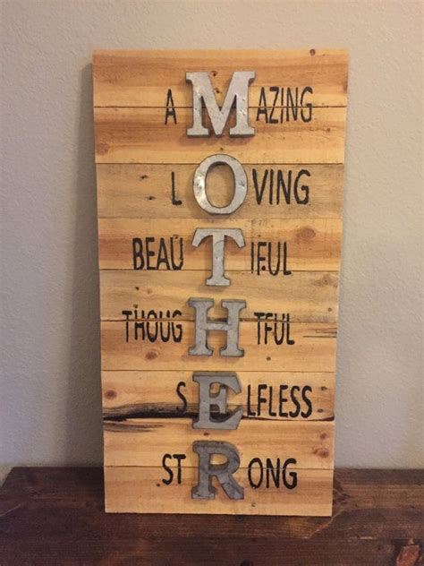 mother sign mothers day sign wall sign pallet sign