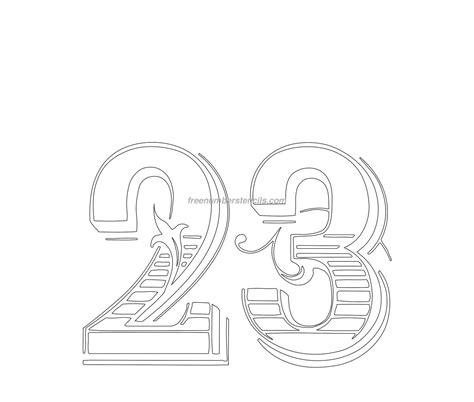decorative  number stencil freenumberstencilscom