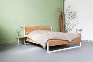 Bett Industrial Design : nature oak bed eiche und stahl n51e12 design manufacture ~ Sanjose-hotels-ca.com Haus und Dekorationen