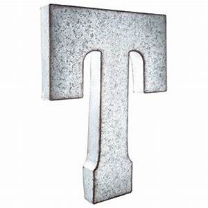 Large galvanized metal letter t living room wish list for Giant galvanized letters