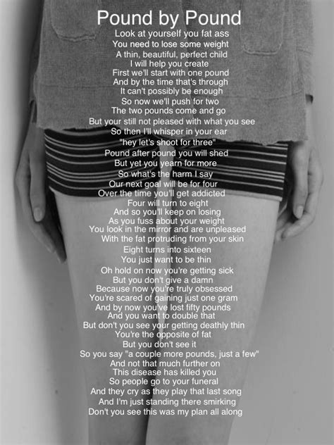 eating disorder poems  quotes quotesgram