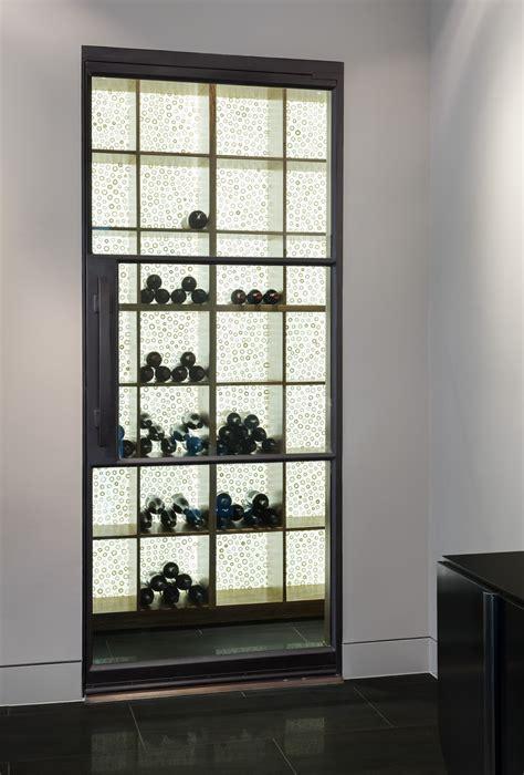 wine cellar door steel  glass  lite door portella