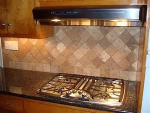 Travertine tile backsplash pros and cons home design ideas for Marble backsplash tile patterns