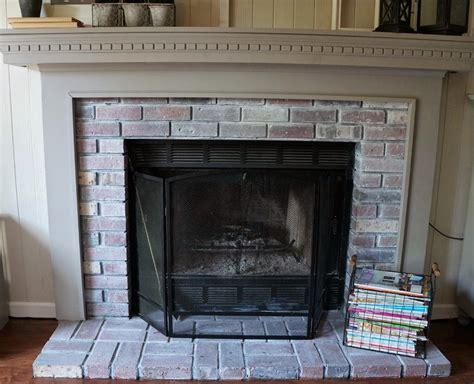 whitewashing a fireplace new year new room challenge re whitewashing the brick