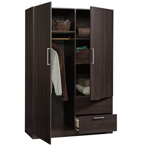 sauder beginnings storage cabinet sauder beginnings wardrobe storage cabinet in cinnamon