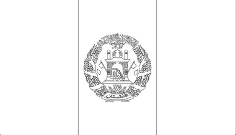 printable afghanistan flag coloring worksheet flag