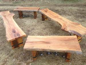 Hand Crafted Slab Benches by Endless Design CustomMade com