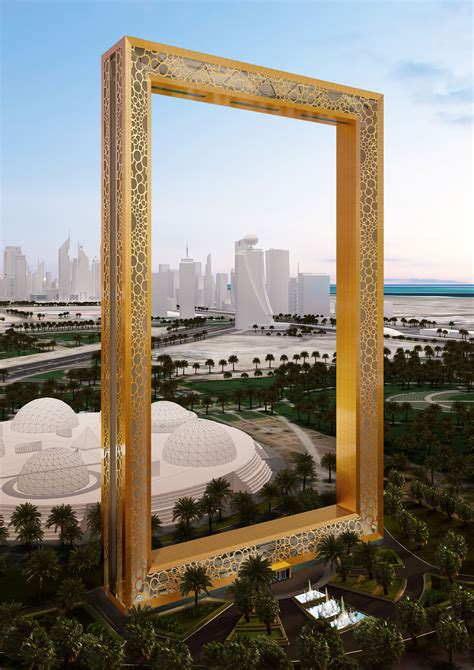 Dubai's Stunning 50-Story, Gold-Plated Frame To Be
