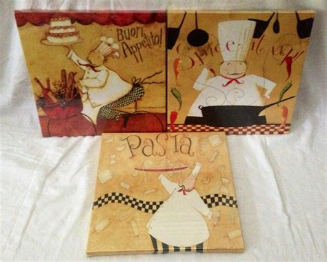 chef decor at target set of 3 chef italian bistro canvas pictures