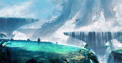 Fantasy Water Giants Nature Goblet Floating Cyan
