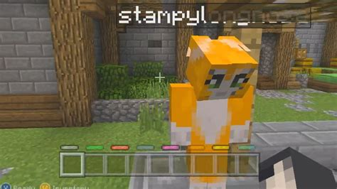 minecraft xbox battle mini game joining stampy cats game youtube