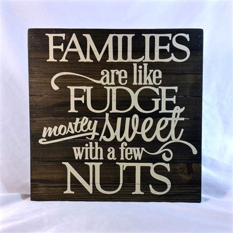 wood sign sayings quote families