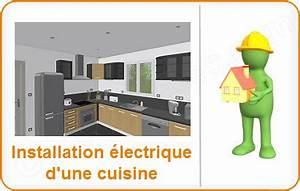 Norme Installation Prise Electrique Cuisine : installation lectrique cuisine l lectricit dans la cuisine sch ma et plan des circuits ~ Melissatoandfro.com Idées de Décoration
