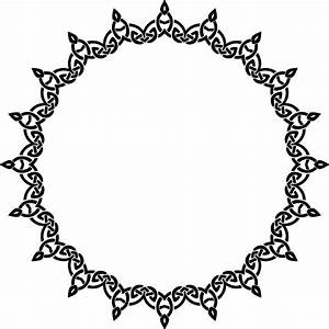 Free Clipart of a celtic round frame border design element ...