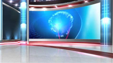 free virtual news studio background globe close HD - YouTube